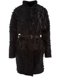 Preen By Thornton Bregazzi Lazer Cut Crocodile Style Coat - Lyst