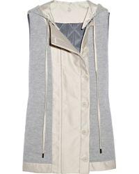 Stella McCartney Sleeveless Wool-blend and Cotton-twill Jacket - Lyst