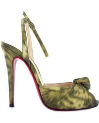 Christian Louboutin Gress Mule Camouflage Sandals - Lyst