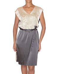 Just In Case - Sequin Embroidered Silk Dress - Lyst