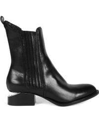 Alexander Wang Black Rose Goldheeled Anouck Chelsea Boots - Lyst