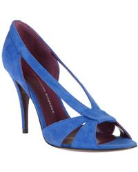 Leopoldo Giordano - Suede Cut-out Shoes - Lyst