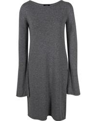 Lublu Long Sleeve Wool Dress - Lyst