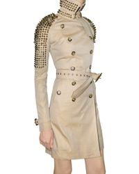 Burberry Prorsum Studded Gabardine Trench Coat - Lyst