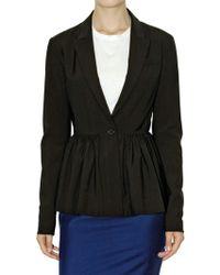 Jil Sander Natural Stretch Wool Poplin Jacket - Lyst