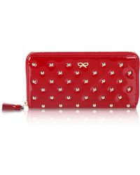 Anya Hindmarch Joss Studded Patent Leather Wallet - Lyst