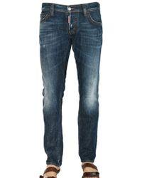DSquared² 19cm Slim Fit Washed Denim Jeans - Lyst