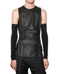Gareth Pugh - Nappa Zipped Vest - Lyst