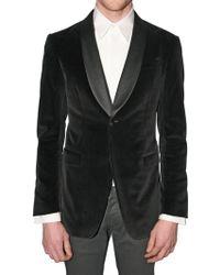 Gianfranco Ferré - Satin Collar Stretch Velvet Jacket - Lyst