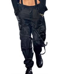 John Galliano Pilot Cargo Pants - Blue