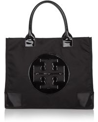 Tory Burch Nylon Ella Tote - Black - Lyst