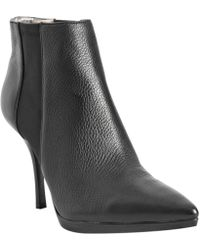 Calvin Klein White Label Black Leather Weslynn Ankle Boots - Lyst