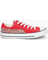What Goes Around Comes Around Studded Converse Sneakers - Lyst