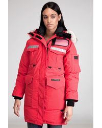 canada goose red parka womens