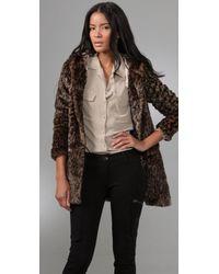 Free People About Town Faux Fur Coat - Multicolor