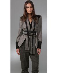 L.A.M.B. - Tweed Jacket with Belt - Lyst