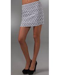 Pleasure Doing Business Arrow Band Miniskirt black - Lyst