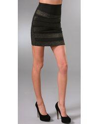 Pleasure Doing Business Cross Band Miniskirt black - Lyst