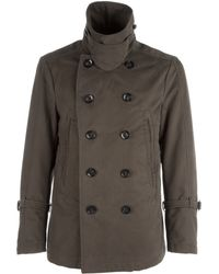Chatcwin - Cotton Pea Coat - Lyst