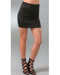 Pleasure Doing Business High Waist Band Miniskirt - Lyst