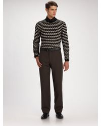 Armani Crewneck Sweater - Lyst