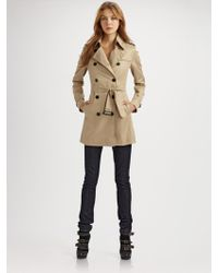 Burberry Brit Double-breasted Trench Coat - Lyst