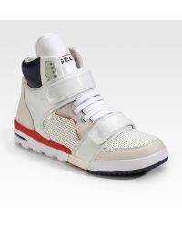 Diesel Deco Impression Strap High-top Sneakers - Lyst