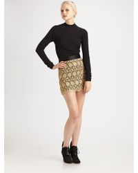 Milly Lace Mini Skirt - Lyst