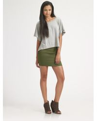 Pleasure Doing Business Banded Mini Skirt/olive - Lyst