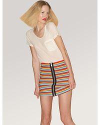 Pleasure Doing Business Rainbow-stripe Elastic Mini Skirt - Lyst