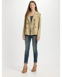 Vince Cropped Trench Coat - Lyst