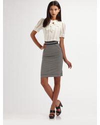 Z Spoke by Zac Posen Stretch Wool Pencil Skirt - Lyst