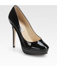 Jimmy Choo Cosmic Patent Leather Pumps - Lyst