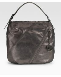 MICHAEL Michael Kors Large Studded Leather Shoulder Bag - Lyst