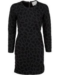 3.1 Phillip Lim Cheetah Print Long Sleeve Dress - Lyst