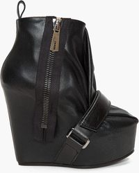 Acne Studios - Leather Wedge Boot - Lyst