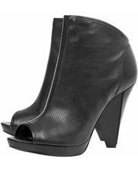 Belle By Sigerson Morrison Peep Toe Bootie - Leather - Lyst
