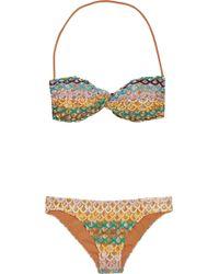 Missoni Mare Banares Crochet-knit Bandeau Bikini - Lyst