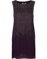 Tibi Stud Beading Sleeveless Dress - Lyst