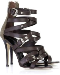 Giuseppe Zanotti Strappy Leather Sandals - Lyst