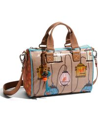 Fossil Key Per Printed Coated Canvas Satchel - Lyst