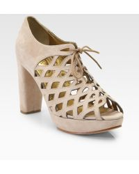 See By Chloé Suede Cutout Ankle Boots - Lyst