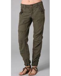 Free People Benjis Utility Pants - Green