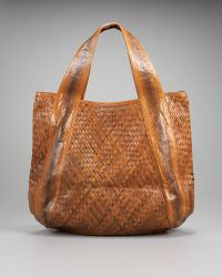 Beirn - Woven Jenna Watersnake Tote - Lyst