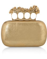 Alexander McQueen New Box Knuckle-duster Leather Clutch - Lyst