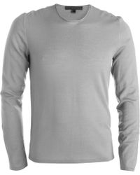 John Varvatos | Stitched Elbow Patch Sweater | Lyst