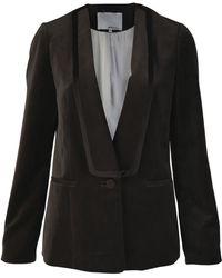 3.1 Phillip Lim - Dark Grey Velvet Tuxedo Jacket - Lyst