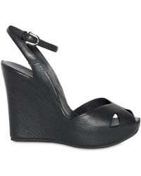 Roberto Del Carlo 110mm Cut Out Ankle Wedges - Lyst