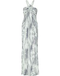 Thurley Rope Twist Printed Silk Maxi Dress - Lyst
