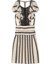 Thurley Frill-sleeve Embroidered Chiffon Dress - Lyst